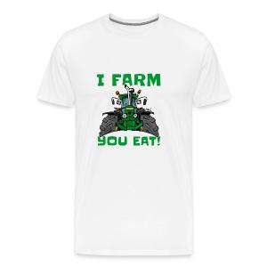 I farm you eat jd - Mannen Premium T-shirt