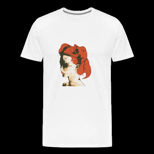 Illustratie smeltende vrouw - Mannen Premium T-shirt