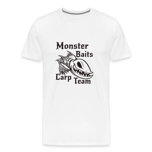 MONSTER_BAITS_WHITE - Koszulka męska Premium