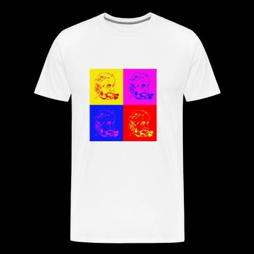 Albert Einstein x 4 - Männer Premium T-Shirt