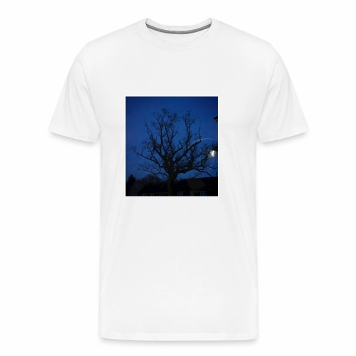 tree night sky - Men's Premium T-Shirt