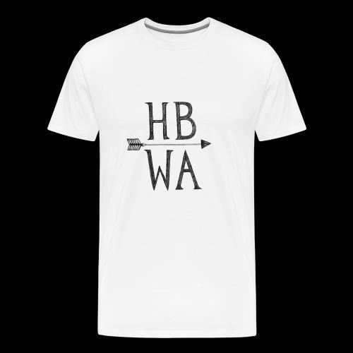 HBWA Logo Schwarz - Männer Premium T-Shirt