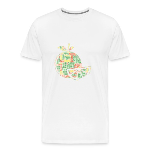 Vegan Word Cloud als Geschenkidee - Männer Premium T-Shirt