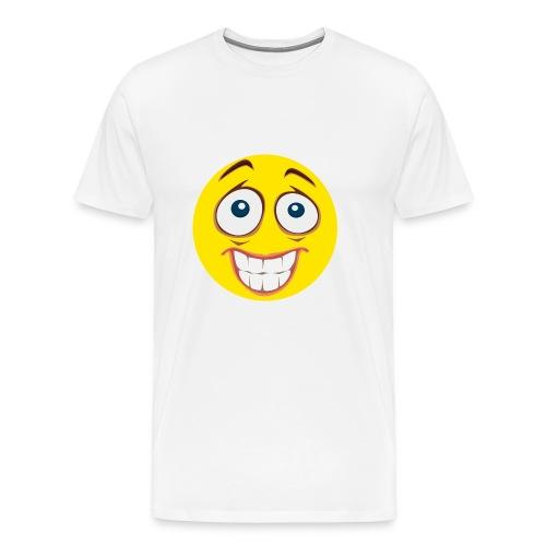 Gekke Smiley - Vrouwen - Mannen Premium T-shirt