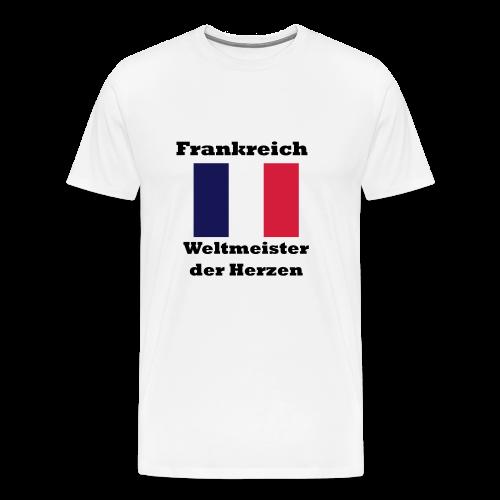 Frankreich im Herzen - Männer Premium T-Shirt