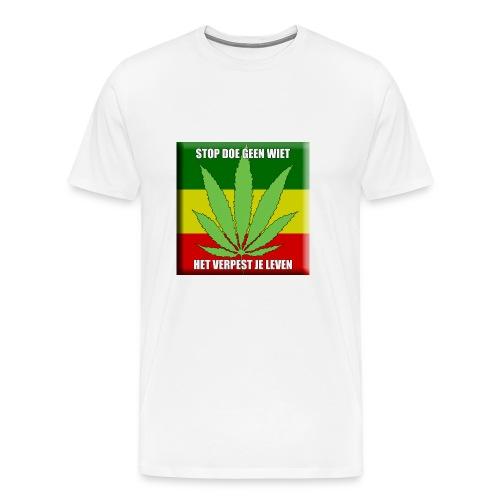 stop met wiet snapback - Mannen Premium T-shirt