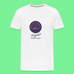 Landschaft bei Nacht - Männer Premium T-Shirt