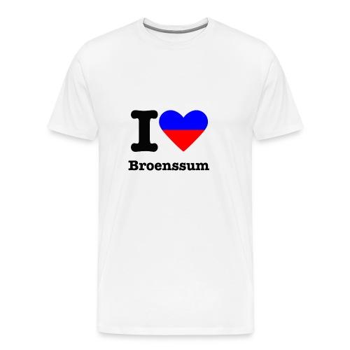 I love Broenssum, kleuren wapen Brunssum - Mannen Premium T-shirt