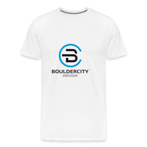 Bouldercity Dresden Blau Schwarz - Männer Premium T-Shirt