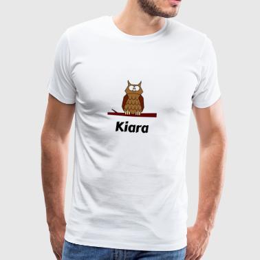 Kinder Schule Geboren Eule Motiv Kiara - Männer Premium T-Shirt