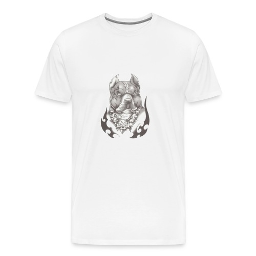 Pitbull Angry face - T-shirt Premium Homme