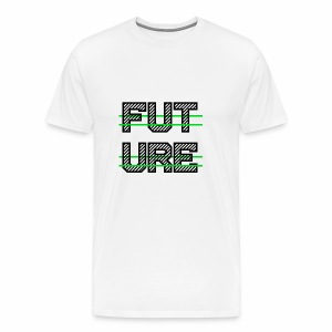 Future Clothing - Green Strips (Black Text) - Men's Premium T-Shirt