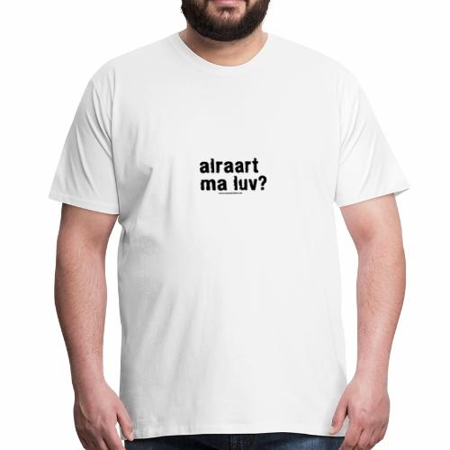 alraart - black - Men's Premium T-Shirt