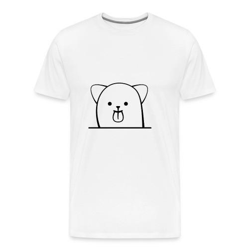 Cartoon Katze streckt frech die Zunge - Männer Premium T-Shirt