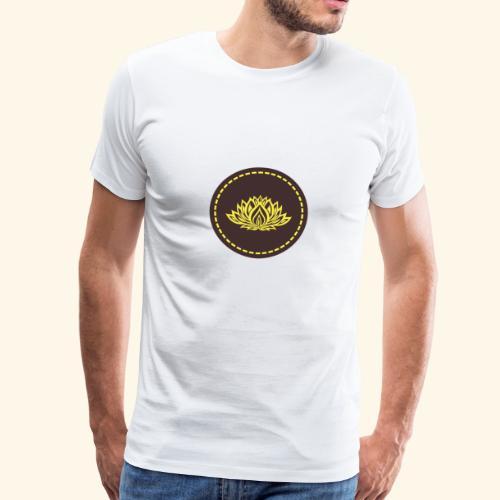 Mandala lotus marron jaune - T-shirt Premium Homme