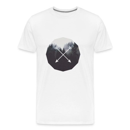 Misty Forest Blended With Crossed Arrows - Maglietta Premium da uomo