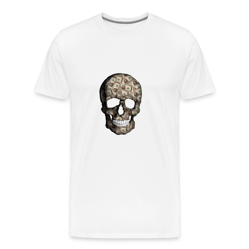 Skull Money Black - Camiseta premium hombre