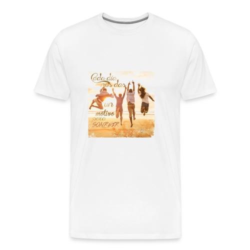 Ser feliz - Camiseta premium hombre