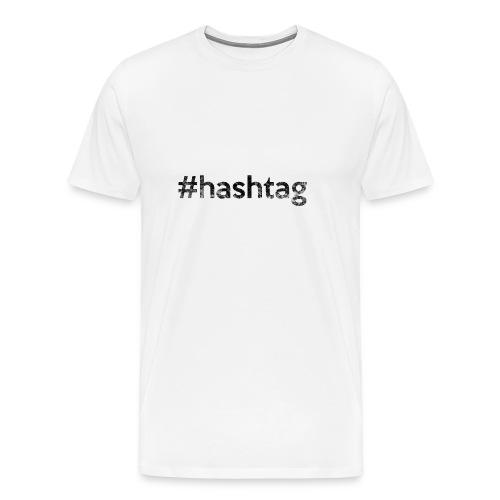 #hashtag black - Männer Premium T-Shirt