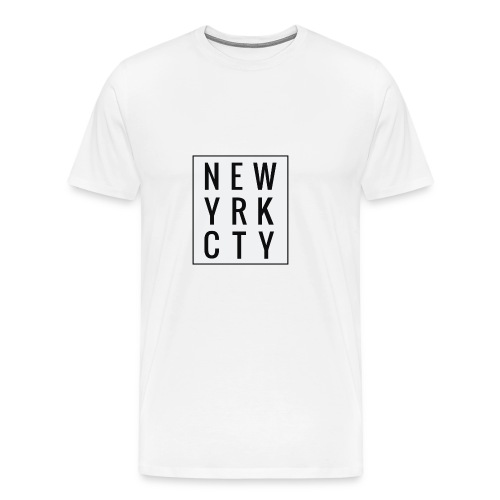 New York City Typo - Männer Premium T-Shirt