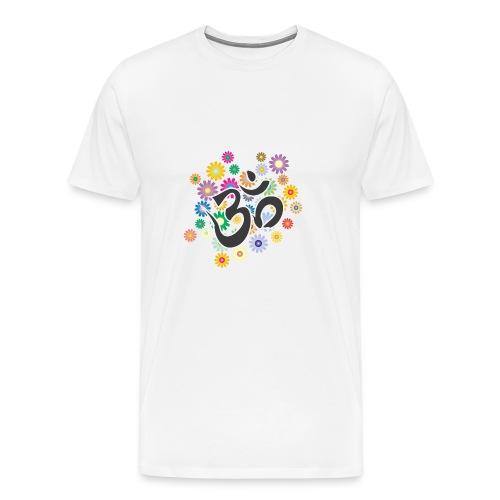 Om Aum Mantra Symbol Flowers - Männer Premium T-Shirt