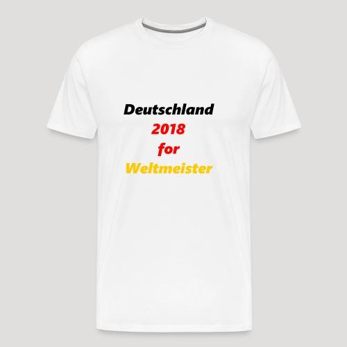 Deutschland for Weltmeister - Männer Premium T-Shirt