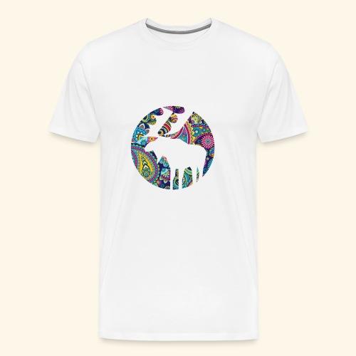 Paisley Elch Bunt - Männer Premium T-Shirt