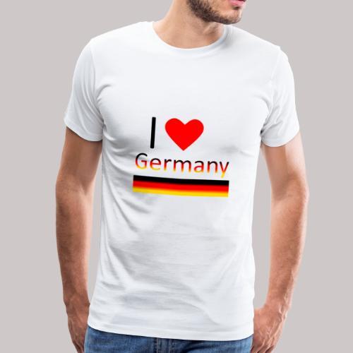 I love Germany - Ich liebe Deutschland - Männer Premium T-Shirt