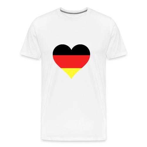 Deutsches Herz - Männer Premium T-Shirt