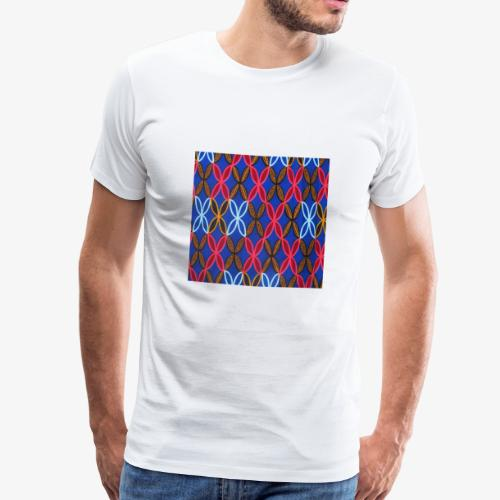 Design motifs bleu rose orange marron - T-shirt Premium Homme