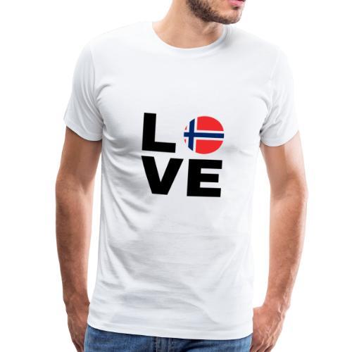 Norway Love - Norwegen Liebe - Geschenk Nord-Fan - Männer Premium T-Shirt