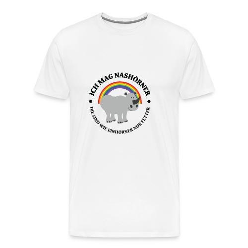 Ich mag Nashörner - Männer Premium T-Shirt