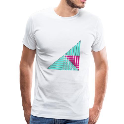linee e quadrati decoro arredamento - Maglietta Premium da uomo