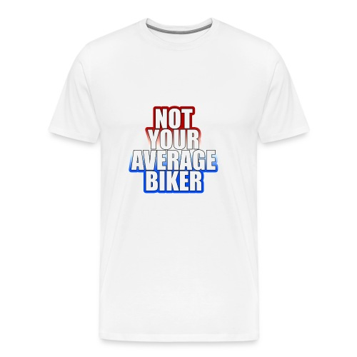 NotYourAverageBiker Hoodie BigWhite BACK logo - Mannen Premium T-shirt