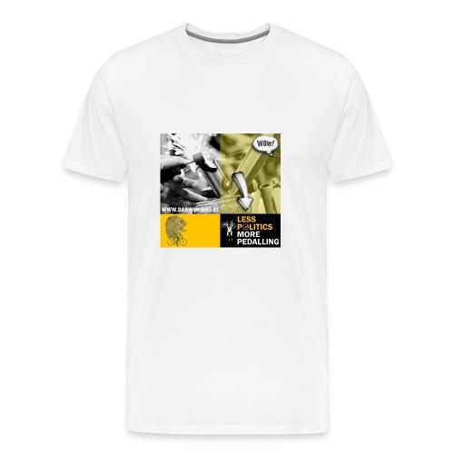 051 Less politics more pedalling - Camiseta premium hombre