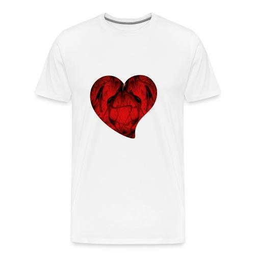 Fraktal - Rotes Herz - Männer Premium T-Shirt