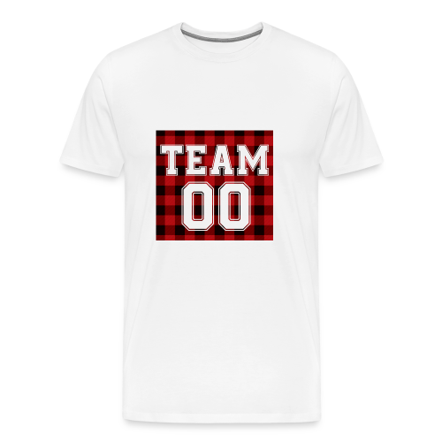 TEAM 00 T-shirt White - Mannen Premium T-shirt