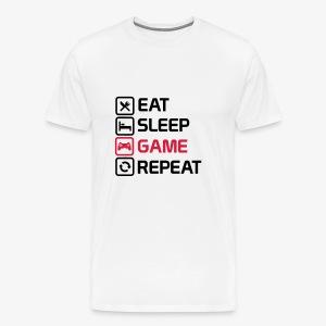 eat sleep game repeat - Men's Premium T-Shirt