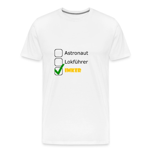 Astronaut, Lokführer, Imker - Männer Premium T-Shirt