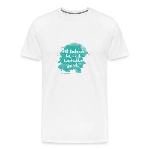 Mit Rucksack los, Farbklecks, weiß - Männer Premium T-Shirt