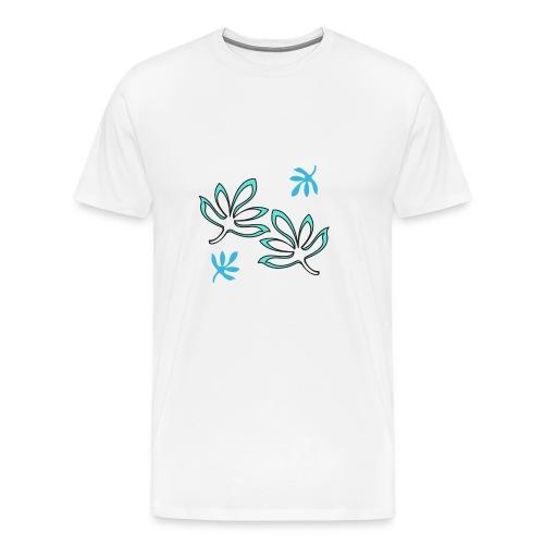 foglie stilizzate verdi - Maglietta Premium da uomo