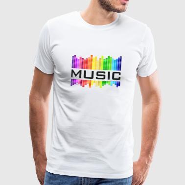 Musique égaliseur arc-en-concert rock de danse - T-shirt Premium Homme