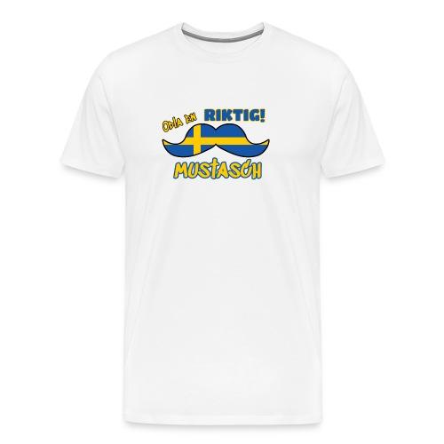 Mustasch - Premium-T-shirt herr