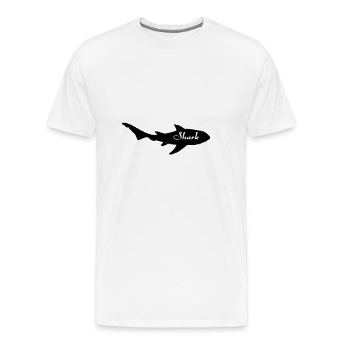 Tiburon logo - Camiseta premium hombre