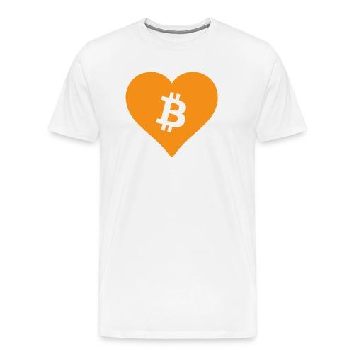 Bitcoin Heart - Mannen Premium T-shirt
