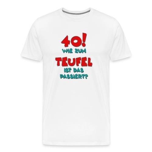40 Jahre Alt / Geburtstag - Männer Premium T-Shirt
