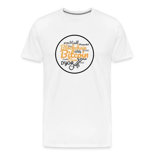 Bitcoin Tag Cloud - Men's Premium T-Shirt