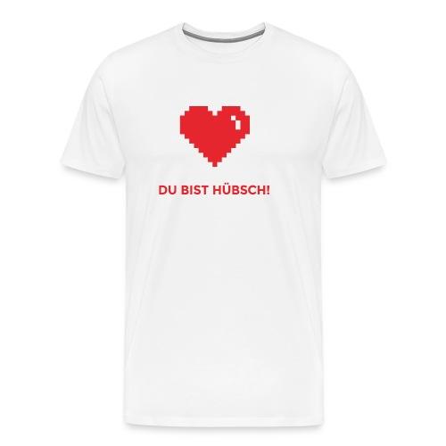 Du bist hübsch Herz Valentinstag Geschenkidee - Männer Premium T-Shirt