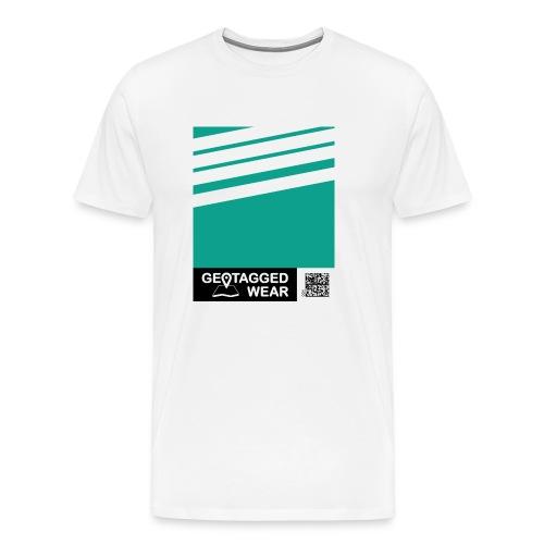 Unisex Stripes Pantone Trend S/S 18 Arcadia - Männer Premium T-Shirt