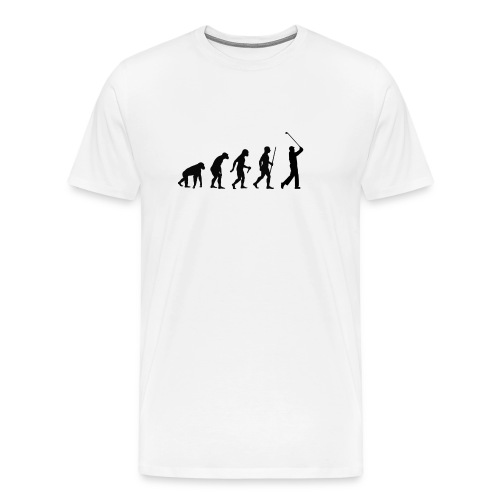 Evolution of Man Golf - Herre premium T-shirt